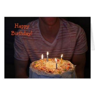 Cartão Card'nCake: Feliz aniversario!