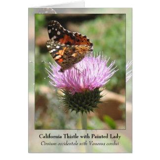 Cartão Cardo de Califórnia com senhora pintada - Notecard