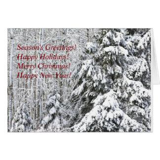 Cartão Carga da neve do inverno!