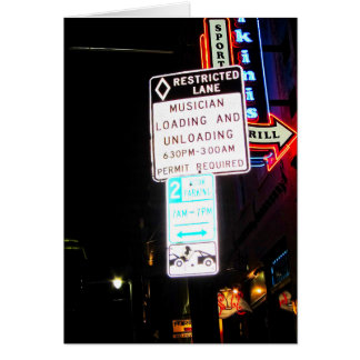 Cartão Carga de Musican & Signage Austin Texas do