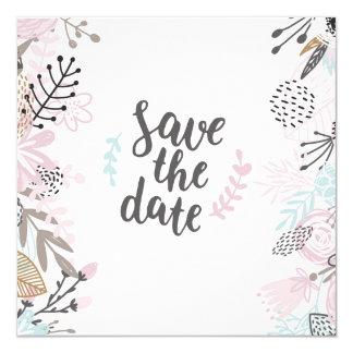 Cartão Carga quadrada moderna florida de seu de boda