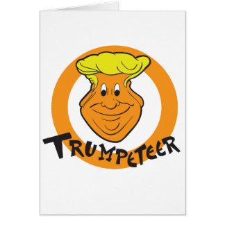 Cartão Caricatura de Donald Trumpeteer