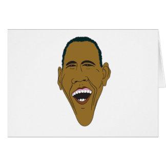 Cartão Caricatura de Obama