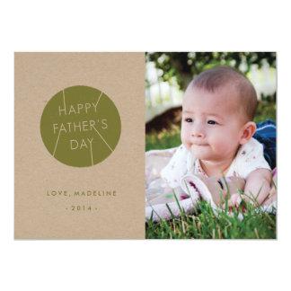 Cartão carimbado do dia dos pais - exército convite personalizado