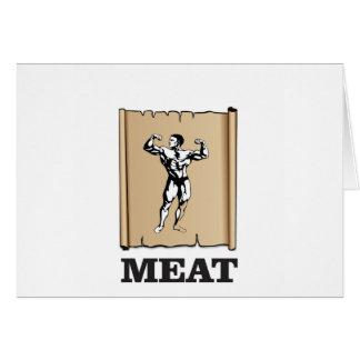 Cartão carne do homem do músculo yeah