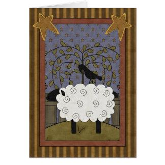 Cartão Carneiros da ovelha da amizade