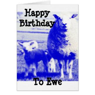 Cartão Carneiros do aniversário