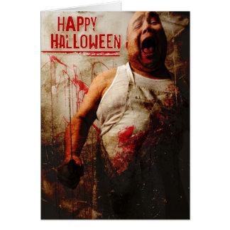 Cartão carniceiro louco o Dia das Bruxas