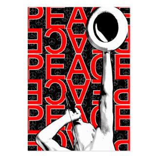 """""""Cartão carnudo da paz vermelha"""" Modelo Cartões De Visitas"""