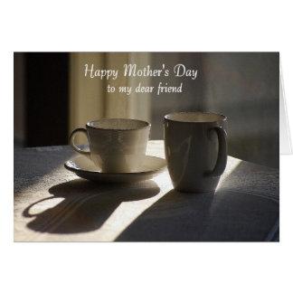 Cartão Caro amigo do dia das mães feliz, copos
