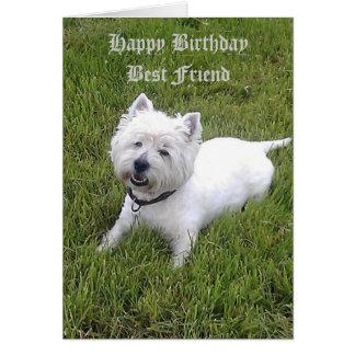 Cartão Caro amigo do feliz aniversario