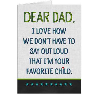 Cartão Caro pai feito sob encomenda