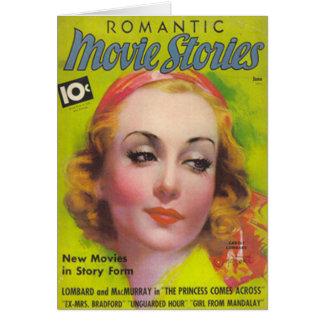 Cartão Carole Lombard no cobrir das histórias 1936 do
