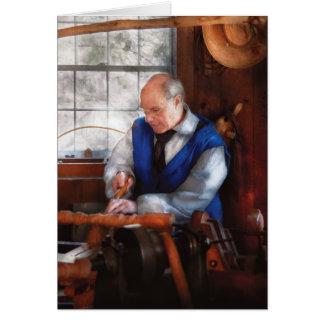Cartão Carpinteiro - o Woodturner
