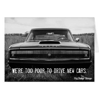 Cartão Carregador de Dodge - demasiado pobre para