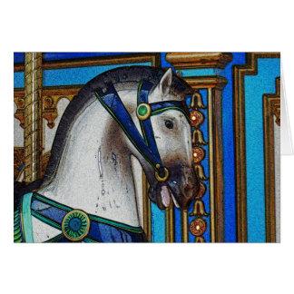 Cartão Carregador do cavalo do carrossel