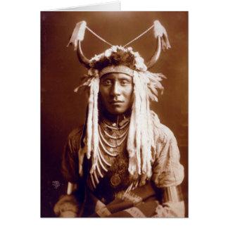 Cartão Carregar principal (nativo americano)
