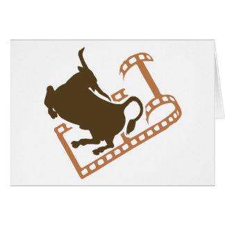 Cartão Carretel de filme Bucking de Bull