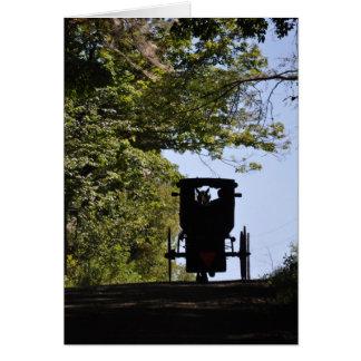 Cartão Carrinho de Amish - silhueta do dia