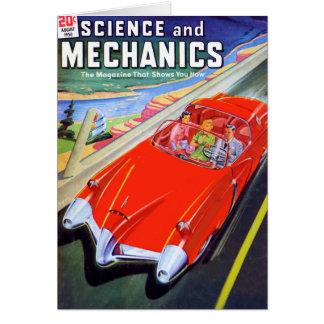 Cartão Carro 1950 do futuro