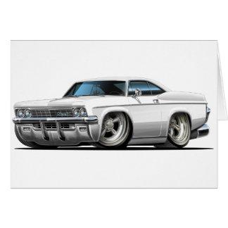 Cartão Carro 1965-66 do branco do Impala
