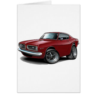 Cartão Carro 1967-69 marrom do Barracuda
