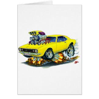 Cartão Carro 1967 amarelo de Camaro SS