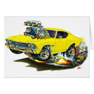 Cartão Carro 1968-69 amarelo de Chevelle