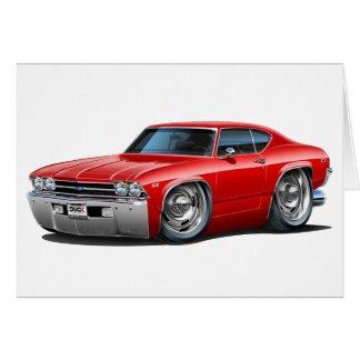 Cartão Carro 1968-69 do vermelho de Chevelle