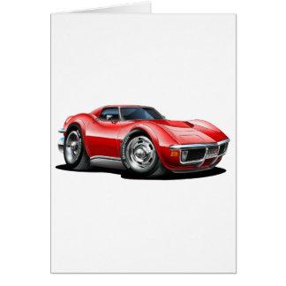Cartão Carro 1968-72 do vermelho de Corveta