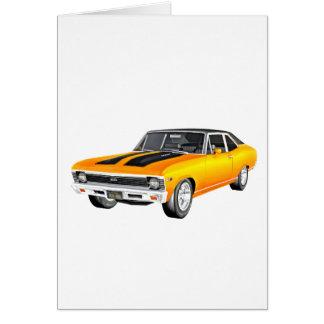 Cartão Carro 1968 do músculo do ouro