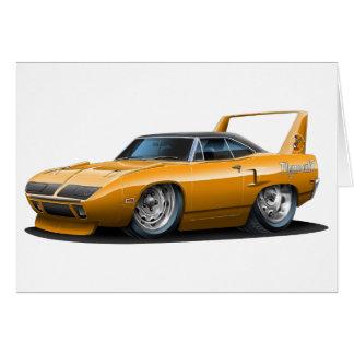 Cartão Carro 1970 da laranja de Plymouth Superbird