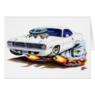 Cartão Carro 1970 do branco de Cuda