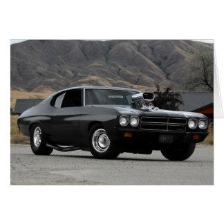 Cartão Carro 1970 do músculo do arrasto de Chevy Chevelle