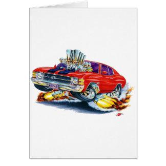 Cartão Carro 1971-72 Vermelho-Preto de Chevelle
