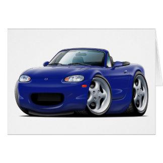 Cartão Carro 1999-05 azul escuro de Miata