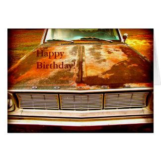 Cartão Carro antigo oxidado do dardo de 1966 Dodge
