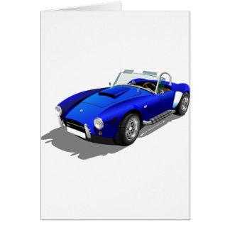 Cartão Carro azul da cobra