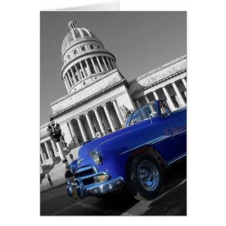 Cartão Carro azul velho de Capitolio