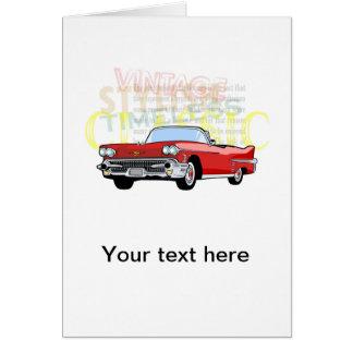 Cartão Carro clássico, convertible velho do vintage no