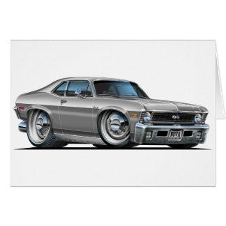 Cartão Carro da prata da nova de Chevy