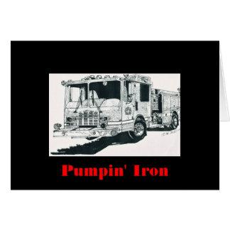 Cartão Carro de bombeiros