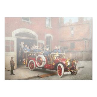 Cartão Carro de bombeiros - o esquadrão 1911 do vôo