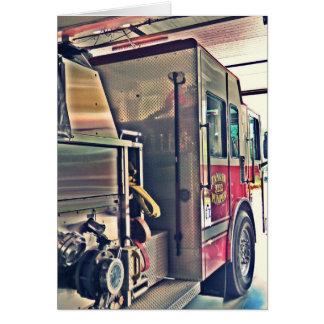 Cartão Carro de bombeiros, pronto