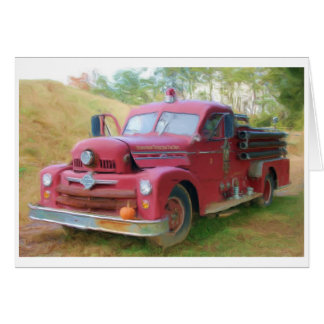 Cartão Carro de bombeiros velho