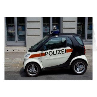 Cartão carro de polícia esperto
