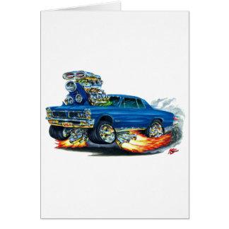 Cartão Carro do azul de 1965 GTO
