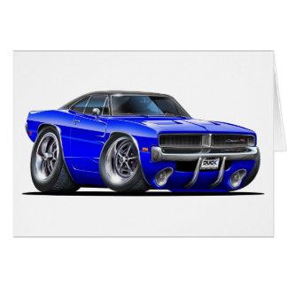 Cartão Carro do azul do carregador de Dodge