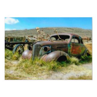 Cartão Carro do cemitério