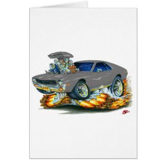 Cartão Carro do cinza de AMX